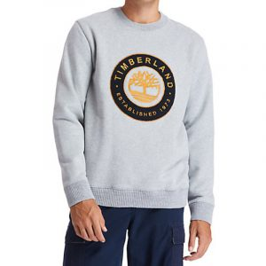 TIMBERLAND BOUCLE SHERTA CREW SWEATSHIRT TB0A2CQ2-052-GREY HEATHER