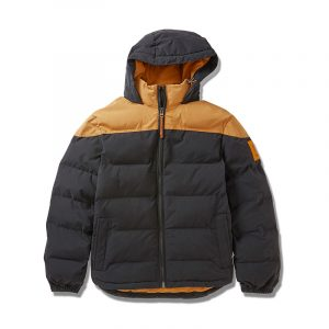 TIMBERLAND PUFFER JACKET TB0A2CVP-P57-WHEAT BOOT/BLACK