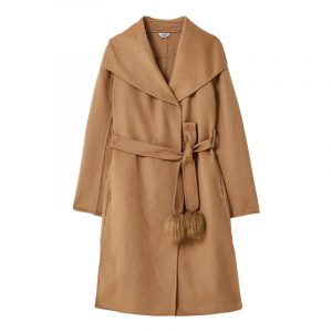 LIU JO CAPPOTTO TS.NAVETTA COAT WF0249T4627-X0307-TOBACCO BROWN