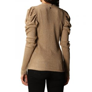 LIU JO MODA M/L SWEATER WF0519J6076-A4014-TOBACCO BROWN LUREX