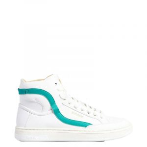 SUPERDRY VEGAN BASKET LUX HIGH TRAINER SNEAKERS WF110071A-RZR-WHITE/AQUA