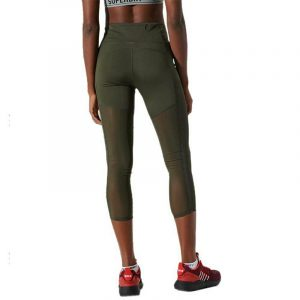 SUPERDRY D1 SPORT TRAINING 7/8 LEGGINGS PANTS WS310182A-ZC3-ARMY KHAKI