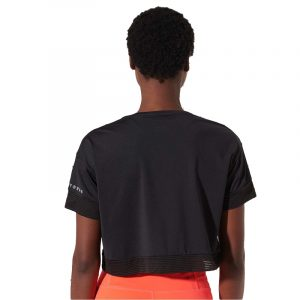 SUPERDRY D1 SPORT TRAINING CROP T-SHIRT WS310207A-02A-BLACK
