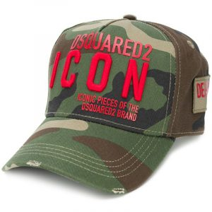 DSQUARED2 HAT BCM0290-05C00001-M1877 CAMOUFLAGE