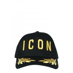 DSQUARED2 ICON HAT BCM015905C00001M085 BLACK-GOLD