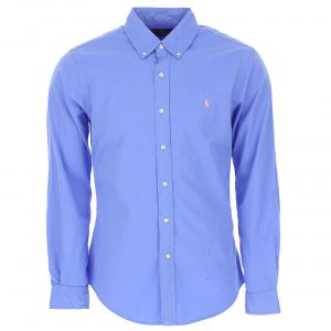 RALPH LAUREN FEATHER WEIGHT TWILL MCLASSICS SHIRT 710741788-009 BLU