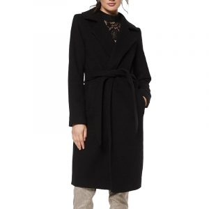 RUT & CIRCLE TUVA LONG COAT RUT-19-4-70-B BLACK