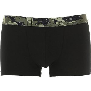 DIESEL COTTON STRETCH TRUNK PACK OF 3 00ST3V 0PAQZ E1897-BLACK/MILITAIRE