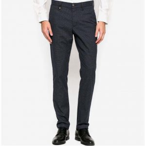 TOMMY HILFIGER DENTON CHINO DOGTOOTH STRAIGHT FIT 08878A0517 416-NAVY