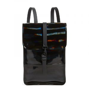 RAINS BACKPACK 1326-HOLOGRAPHIC BLACK