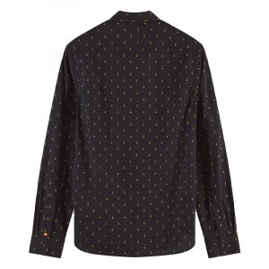 SCOTCH AND SODA ALL-OVER PRINTED COTTON POPLIN SHIRT 158420-0219-BLACK/MULTI COMBO C