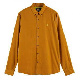 SCOTCH AND SODA CLASSIC BUTTON-DOWN CORDUROY SHIRT 158428-0619-CAMEL