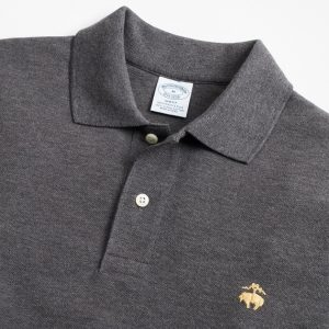 BROOKS BROTHER L/S SLIM FIT POLO 320 00121541 003-GREY