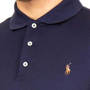 POLO RALPH LAUREN CORE REPLEN SLIM FIT POLO 710685514003-NAVY