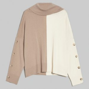 PENNY BLACK FONICO PULLOVER 90H23640720/282-007-CAMEL/WHITE