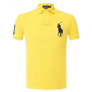 RALPH LAUREN CUSTOM SLIM FIT POLO A12 KAA26 C8312 A7078-YELLOW
