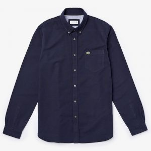LACOSTE OXFORD SHIRT CH4976-423-NAVY BLUE