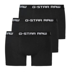 G-STAR RAW COTTON STRETCH TRUNK PACK OF 3 D03359 2058 4248-BLACK