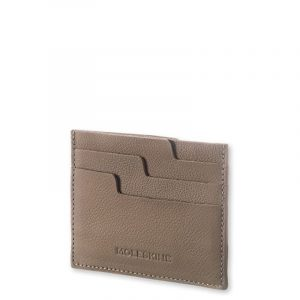 MOLESKINE LEATHER LINEAGE CARD WALLET-TAUPE