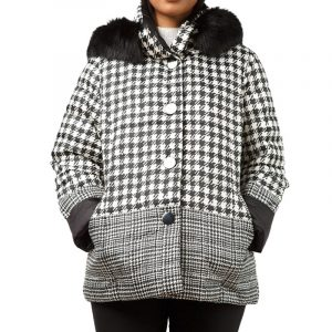 ELENA MIRO QUILTED JACKET F609T000564N-01-BLACK/WHITE