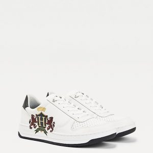TOMMY HILFIGER BASKET LOW CREST CUPSOLE SNEAKERS FM0FM03086-YBR-WHITE