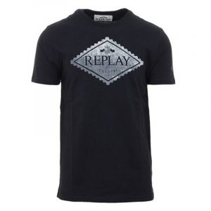 REPLAY ORGANIC COTTON WITH PRINT T-SHIRT M3140 .000.23046P-397-OFF BLACK