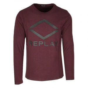 REPLAY LONG SLEEVE T-SHIRT M3310 .000.22982P-060-RED WINE