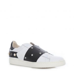 MOA MASTER OF ARTS SNEAKERS ACTION LEATHER MD760 M08B-WHITE/BLACK