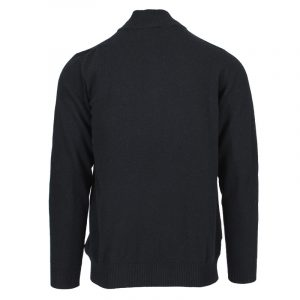 MARLBORO CLASSICS HALF ZIP LAMBSWOOL POLO NECK JUMPER MCS-M-K-03003-704-NAVY BLUE