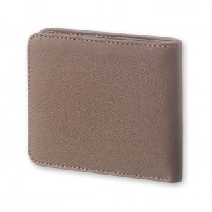 MOLESKINE LEATHER LINEAGE HORIZONTAL WALLET-TAUPE