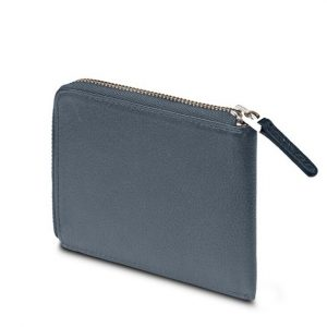 MOLESKINE LEATHER LINEAGE SMART WALLET-BLUE