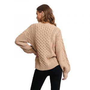 RUT & CIRCLE CARRIE CABLE CARDIGAN RUT-20-03-12-BEIGE