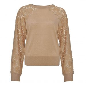 TWINSET LACE PULLOVER TA73CA-GOLDEN