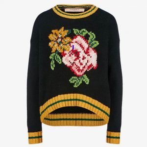 TWINSET PRINTED PULLOVER PA83HR-BLACK
