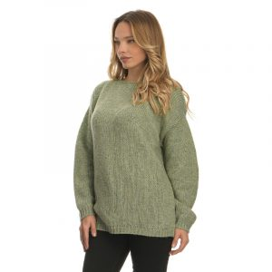 AGGEL MOHAIR BLEND BASIC SWEATER W01155K-MINT
