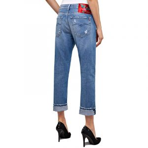 REPLAY ROXEL BOYFRIEND FIT JEANS WA417R .000.108.662-009-MEDIUM BLUE