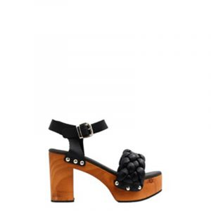 FAVELA COSMO HEELED SANDALS 0116000885-001-BLACK
