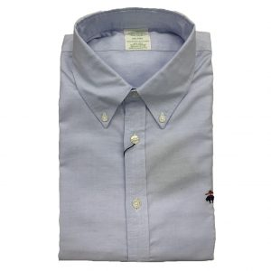 BROOKS BROTHER MILANO FIT SHIRT NON IRON 00146319-BLUE