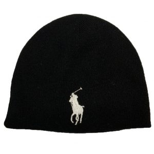 POLO RALPH LAUREN BIG PONY WATCH CAP A81 A2244 W0040 A0FED-BLACK /WHITE