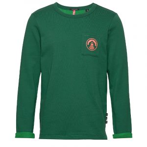 SCOTCH & SODA CR-NK SWEATER WITH CONTRAST LOOPS 150510 – 2914 GREEN