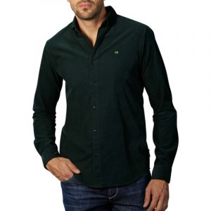 SCOTCH AND SODA CLASSIC BUTTON-DOWN CORDUROY SHIRT 158428-0118 GREEN FOREST
