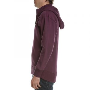 SCOTCH & SODA FELPA HOODIE ZIP THROUGH BADGE SWEATER 158483 – 3847 BURGUNDY