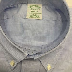 BROOKS BROTHER MILANO FIT SHIRT NON IRON 00100473-BLUE