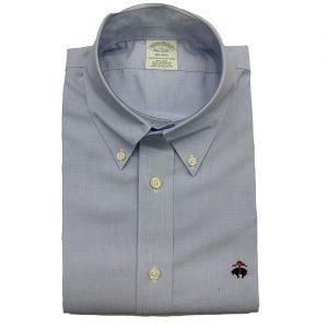 BROOKS BROTHER MILANO FIT SHIRT NON IRON 00101717-BLUE