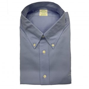 BROOKS BROTHER MILANO FIT SHIRT NON IRON 00104333-BLUE