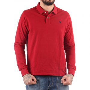 U.S. POLO ASSN INSTITUTIONAL POLO LSL T-SHIRT 59217-49785-159 RED