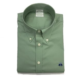 BROOKS BROTHER MILANO FIT SHIRT NON IRON STRETCH 00162447-GREEN