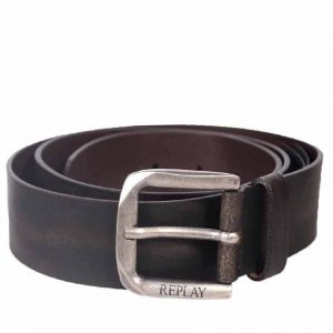 REPLAY LEATHER BELT AM2453.000 A3001E.128-BROWN
