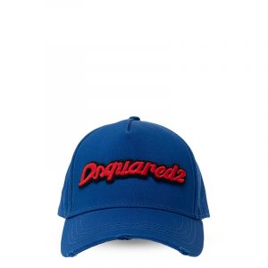 DSQUARED2 BASEBALL CAP WITH LOGO BCM0358 05C00001 3072-BLUE