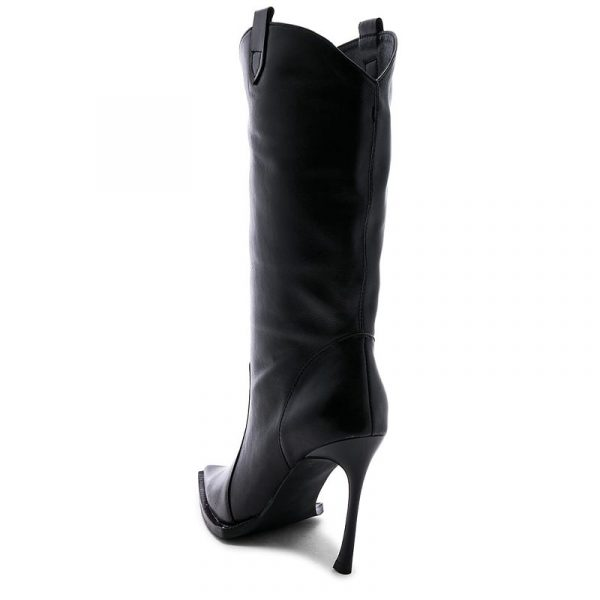 JEFFREY CAMPBELL LEATHER BOOTS 0101002544 BLACK